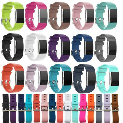 Wristband Band Strap Replacement Silicone Rubber Bracelet For Fitbit Charger 2