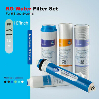 50 GPD Complete RO Water Filter set Replacement for APEC ESSENCE ROES-50 System