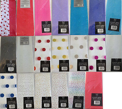 Glitter and foil tissue paper sheets - a touch of luxury for gifts or crafts