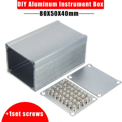 Electronic Aluminum PCB Instrument Enclosure Case Project Box DIY 80*50*40mm