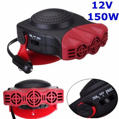 12V 2 In 1 Ceramic Heater Hot & Cold Fan Car Portable Defroster De Icer Red 517