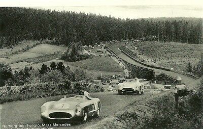 MOTOR RACING NURBURGRING 2 POSTCARDS from the 1950s