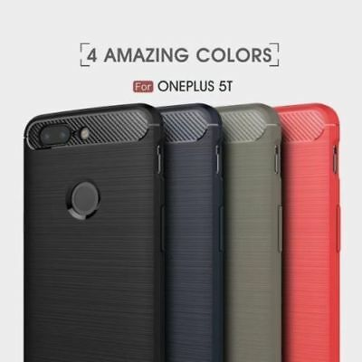 For One Plus 5T Brushed Drawing Armor Ultra thin Silicone Soft Case Rubber Cover