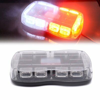 "36 LED 18"" Traffic Advisor Emergency Warning Light Bar Kit Interior YELLOW+WHITE"
