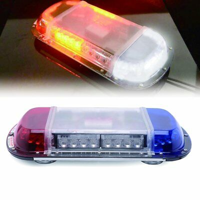 "34 LED 17"" Traffic Advisor Emergency Warning Strobe Light bar YELLOW+WHITE"