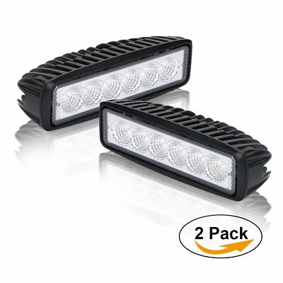 "Pair 6"" Led Work Light Cube Flood JEEP Wrangler Ford F150 F250 GMC Dodge Pickup"