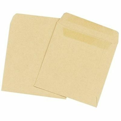 Plain Manilla Self-Seal Wage Pay Envelope  108 x 102mm – 100 Pack KF3420