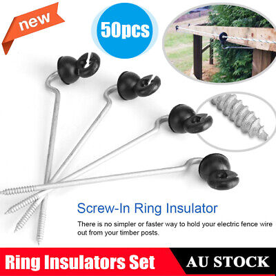 50X Offset Timber Post Field Guardian Wood Post Screw-In Fencing Ring Insulator