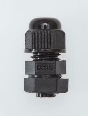 M20 Black Nylon Cable Gland 8.5-14mm Cable IP68 with Locknut & Washer, QTY:100