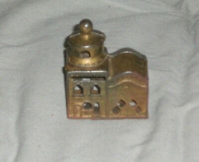 Vintage Cast Iron Mosque Building Coin Bank