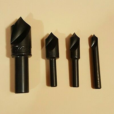 Countersink set M.A. Ford HSS Uni flute 82 degree 4pcs NEW NEVER USED!