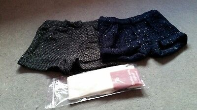 TU Girls Sparkley Shorts with Tights 2-3years