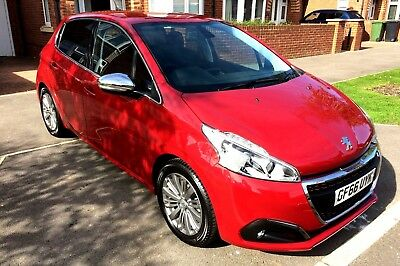 2016 (66) Peugeot 208 Allure 1.2 Puretch 5 Door Manual In Red Sat Nav Good Spec