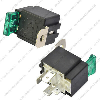 HALFORDS HEF554 Relay 12V 30 Amp 4 Pin Normally Open Contact - Relay Switch Halfords