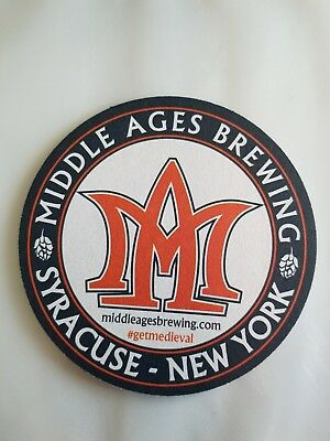 Middle Ages Brewing  Beer Coaster Mat- Craft Beer Brewery - New