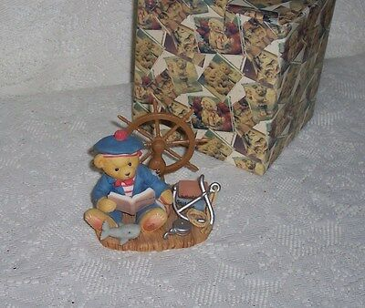 """Cherished Teddies Glenn """"By Land or By Sea"""" 1998 Ltd Ed With Box & Papers"""