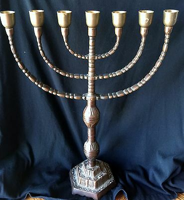Large Temple Menorah from Israel- Solid Bronze - No Reserve - Original
