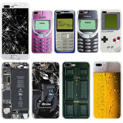 For Iphone X 8 7 PLUS 6 5 5S Game Boy Pattern Soft Silicone TPU Phone Case Cover