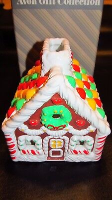 Vintage Avon Ceramic Gingerbread House With Candle Holder