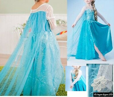 Frozen - Vestito Carnevale Elsa 2-12 Y anni Dress up Elsa Costumes 789007K - CL