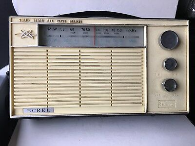 VINTAGE RADIO ECREL BANDS  MW(-AM)-SW WORLDWIDE 1950s-1960s VERY RARE JAPAN
