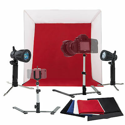 """16"""" Photo Studio Photography Light Tent Kit Backdrop Cube In A Box Mini Stand"""