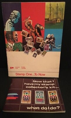 2 Vintage 1970's Canada Post Stamp Collection Booklet Guides for Collectors RARE