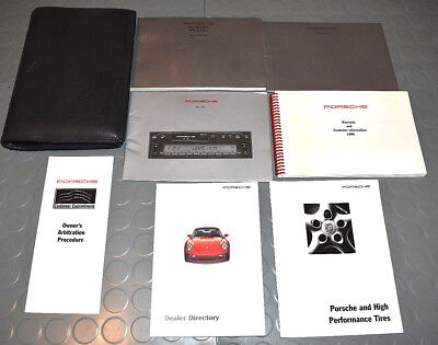 1996 Porsche 911 993 Carrera, Turbo C4 C4S Coupe Cabriolet Owners Manual - SET