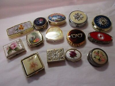 job lot of pill boxes some are vintage