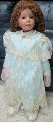 "Donna RuBert Limited Edition 28"" Porcelain Doll SUZANNE Includes Authenticity"