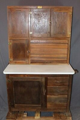 Ariel Oak Hoosier Cabinet w Flour Bin, Tin Breadbox drawer ***LOCAL PICKUP**