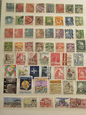 Denmark stamp collection from an old album