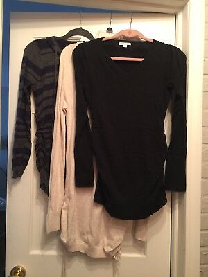 Lot Of 3 Womens Size Small Maternity Sweaters, Liz Lange, Old Navy