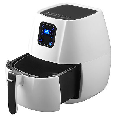 Electric No Oil Air Fryer 1350W Timer &Temperature Control W/Digital Panel White