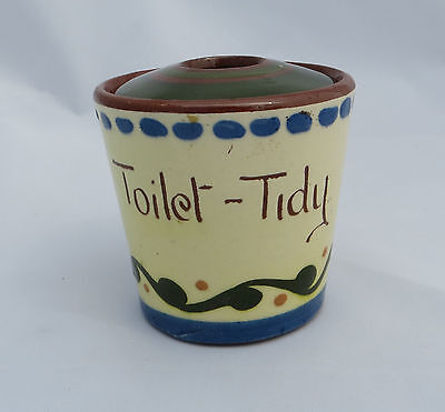 Longpark Torquay Motto Ware - Pottery Toilet Tidy - Scandy - Pattern Number 267