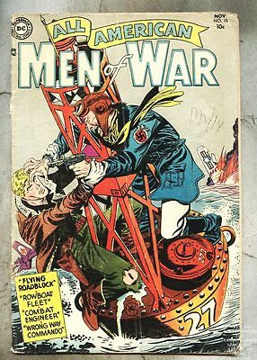 All-American Men Of War #15-1954 gd+/gd  Jerry Grandenetti