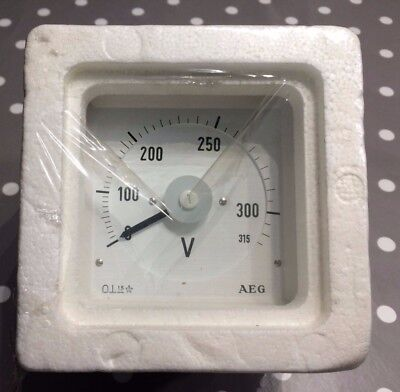 AEG 96x96 DIn Voltage Panel Meter 0 to 315VDC Direct connected  240° scaling