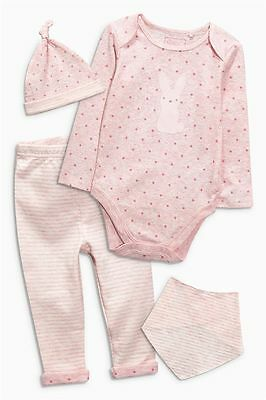 Next Baby Girl Pink Bunny 4 Piece Set First Size/Up To 1/0-3/3-6/6-9/12-18!