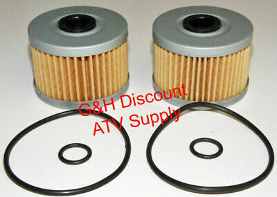 TWO OIL FILTERS WITH O-RINGS for 1985-1986 Honda ATC 350X Three-Wheel ATVs