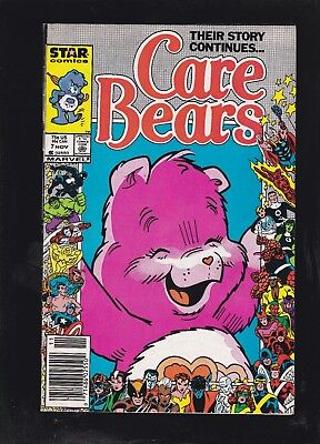 Care Bears #7 Marvel 25th Anniversary Cover! Very HTF Issue! Newsstand Cover!