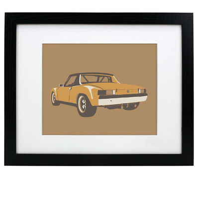 "Porsche 914/6 GT – Graphic Print 8"" x 10"" Original Artwork Poster"