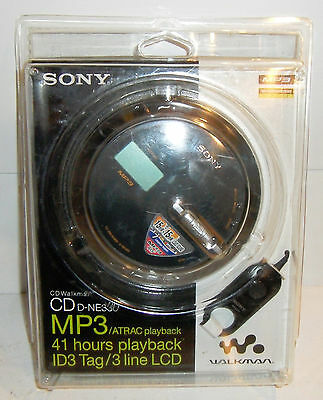 NEW Sony CD Walkman CD D-NE330 MP3/ATRAC, 41 hours playback ID3 Tag/3 Line LCD