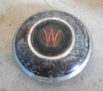 """Vintage 1960s Plastic W  Car or Truck Horn Button Cover 4"""" Wide"""
