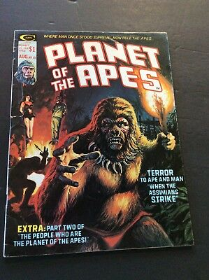Curtis PLANET OF THE APES B&W Comic Magazine #13 October 1975