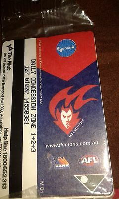 Metcard x4 zones 123 melbourne NEW STILL IN Sealed packet