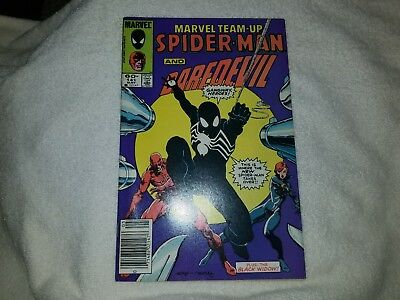 Marvel Team-Up #141 Spider-Man Daredevil VF- black costume