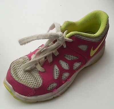 NIKE Kids Fusion Run 2 Sz 12 Toddler Girls Pink Sneakers Tennis Shoes 599794 005
