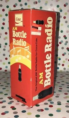 Rare Vintage 1970S Coca Cola Bottle Radio Am/fm Mint In Box Works Htf