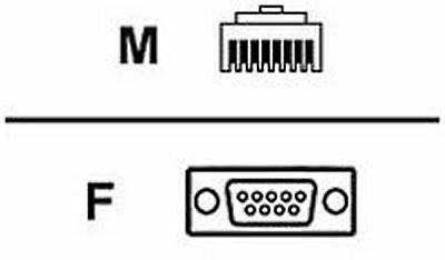 Avocent RJ-45 To DB-9 - Female Adapter