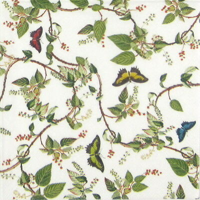 4x Paper Napkins - Butterfly Paradise - for Party, Decoupage Craft